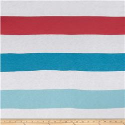 Designer Rayon Tissue Jersey Big Stripes Nautical