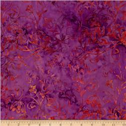 Timeless Treasures Tonga Batiks Firestorm Blooming Vixen