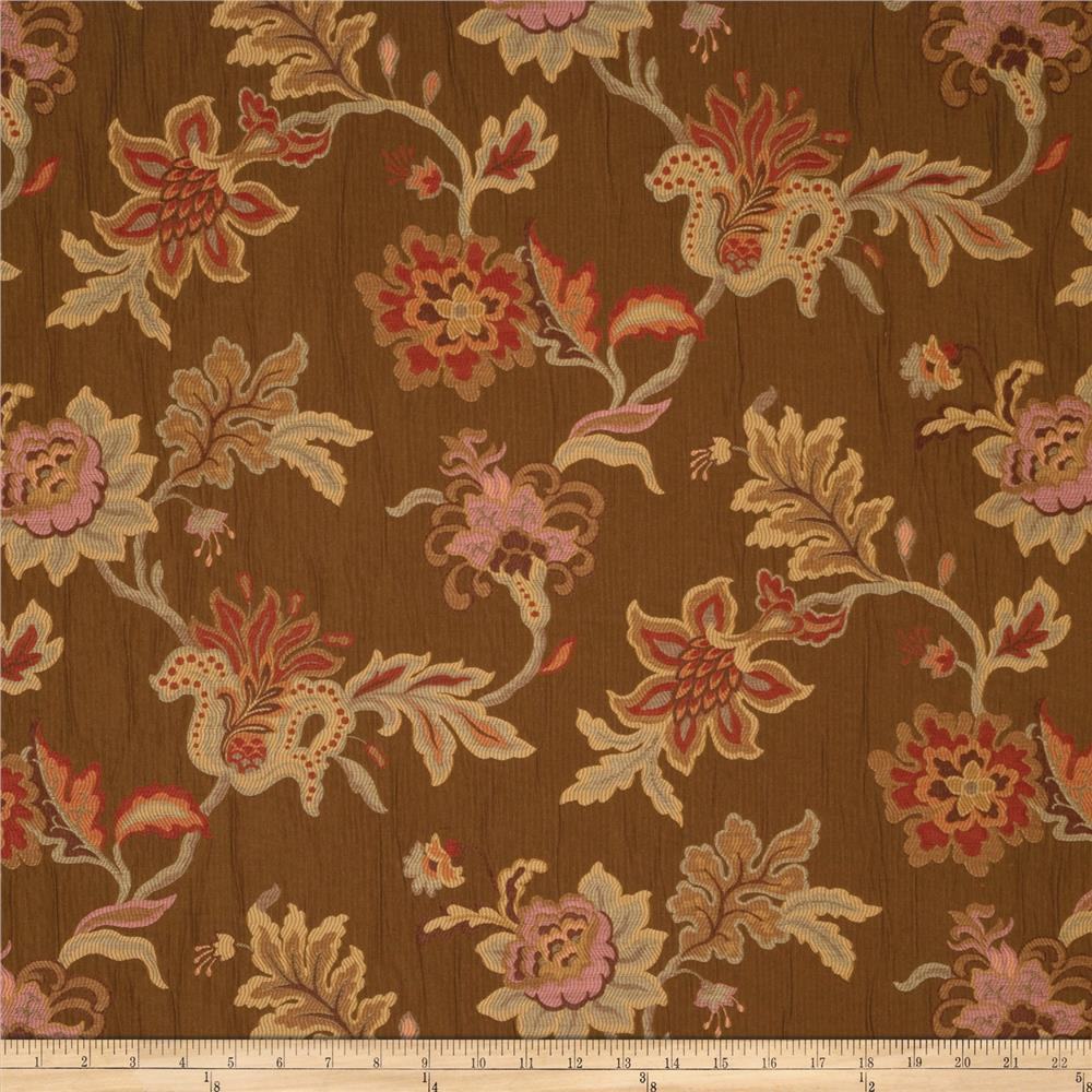 Jaclyn Smith Embroidered Aquilla Jacquard Coffee