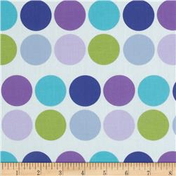 Stretch Cotton Poplin Dots Lavender