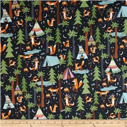 Under The Stars Flannel Fox Camp Steel