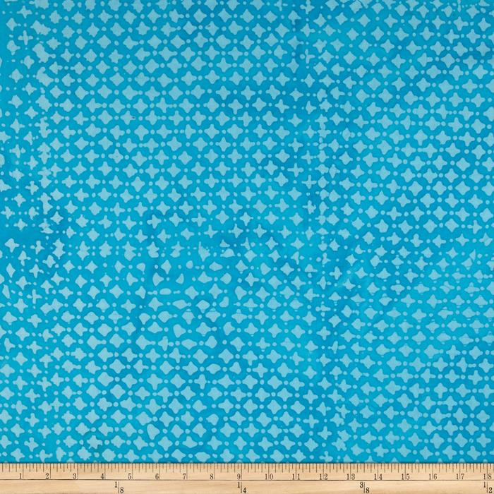 Indian Batik Hollow Ridge Dots Aqua