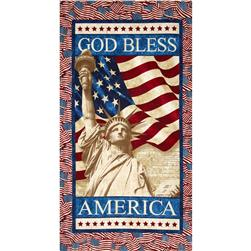 "Stonehenge Stars & Stripes II God Bless America 24"" Panel Multi"