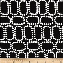 Downtown Ringlets Black Fabric