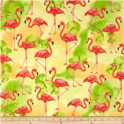 Kaufman Flamingo Paradise Flamingos Sunshine