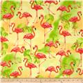 Robert Kaufman Flamingo Paradise Flamingos Sunshine