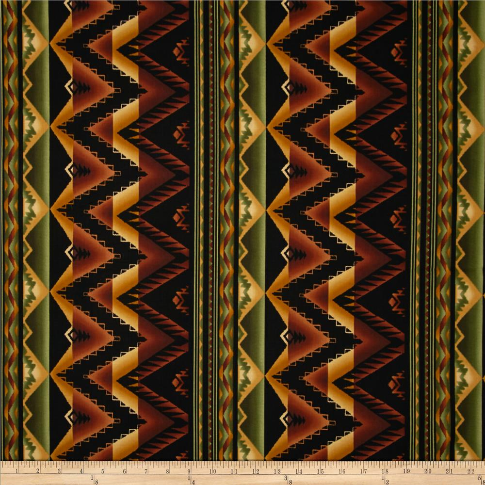 Kanvas The Great North Wilderness Western Blanket Brown
