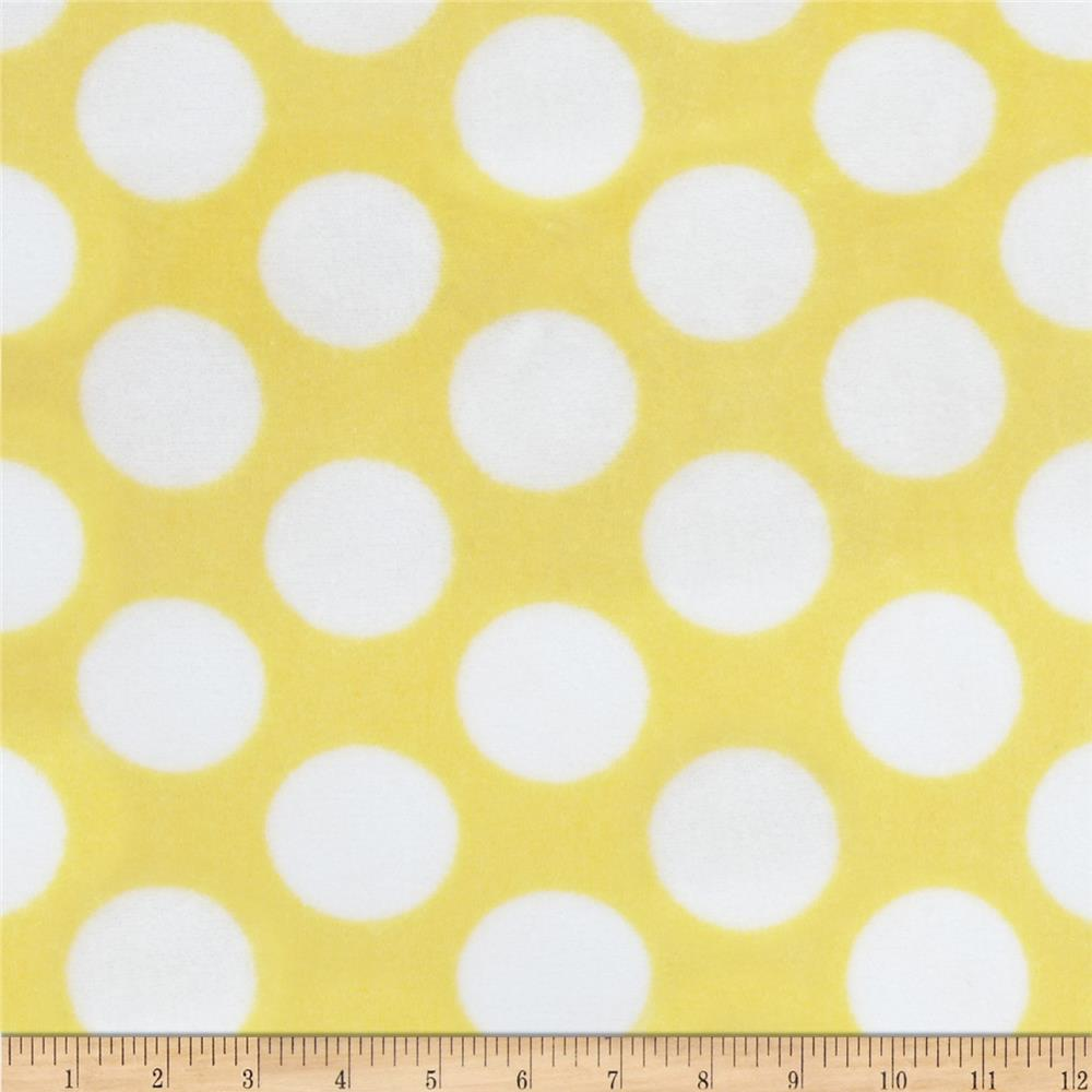 Plush Coral Fleece Polka Dot Yellow