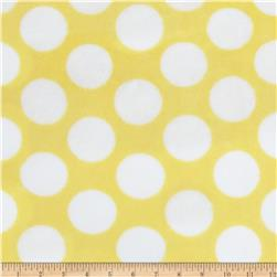 Plush Coral Fleece Polka Dot Yellow Fabric