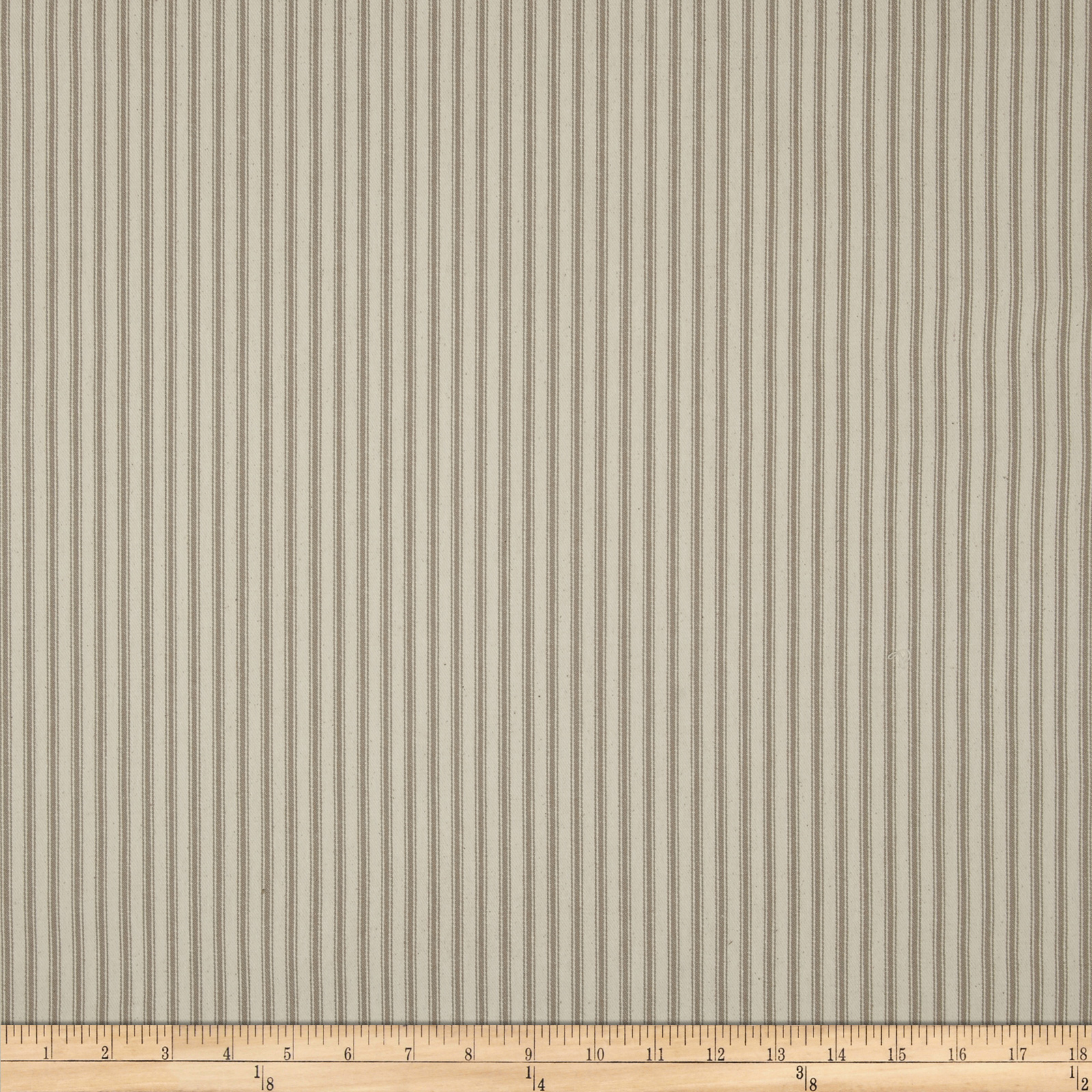 44 ticking stripe taupe discount designer fabric for Ticking fabric