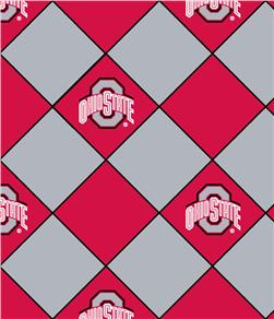 Ohio State University No Sew Fleece Throw Kit