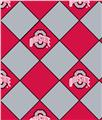 Ohio State University No Sew Fleece Throw Kit Argyle