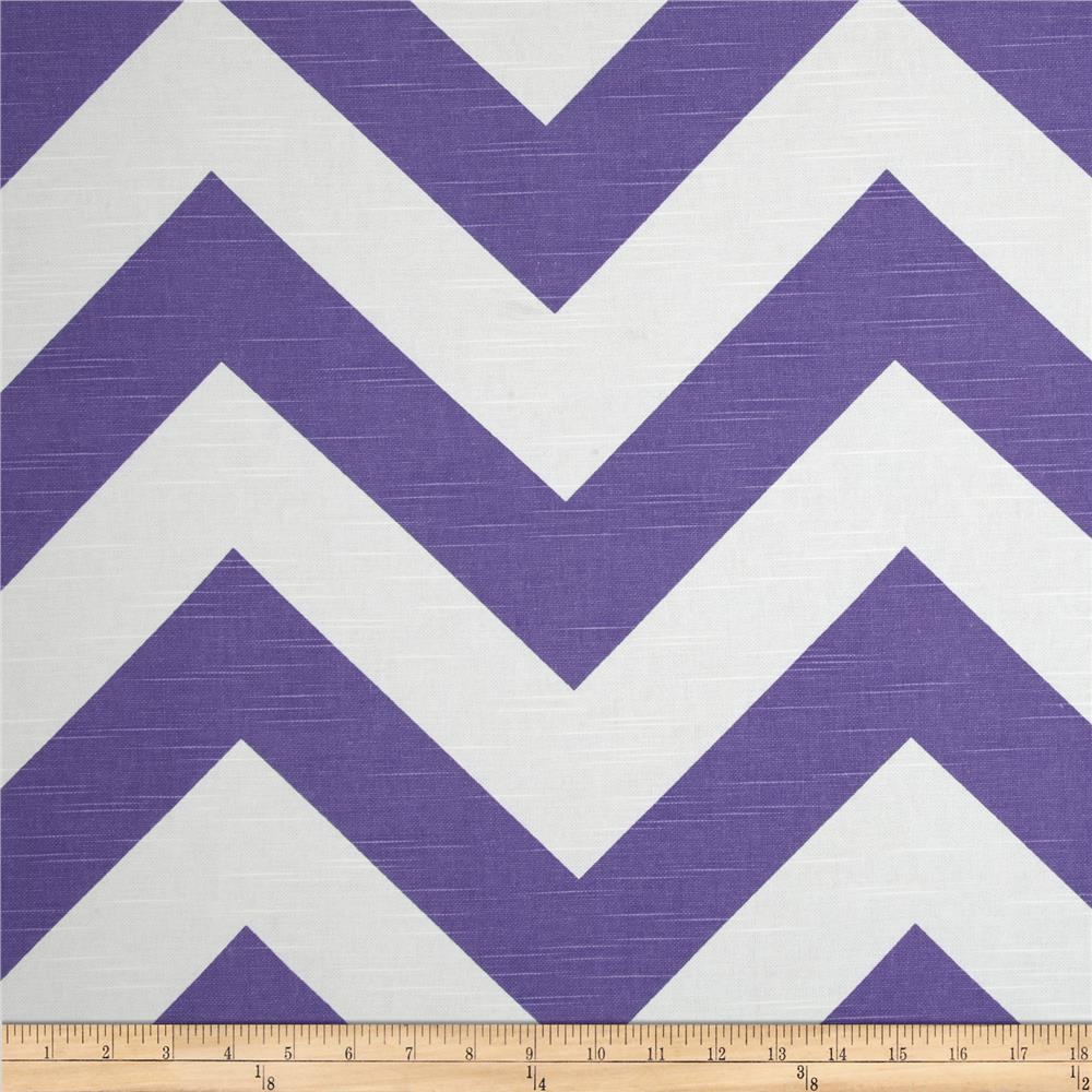 Premier Prints Zippy Chevron Slub Thistle