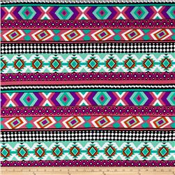 Brushed Stretch ITY Jersey Knit Aztec Purple