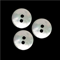 Genuine Shell Button 1/2'' Agoya Lt. Grey Pearl