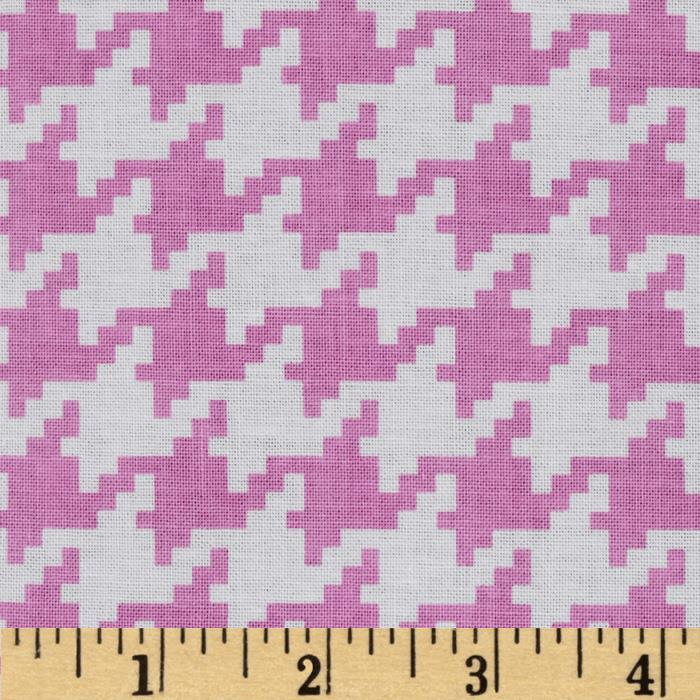Michael Miller Everyday Houndstooth Peony