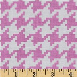 Michael Miller Everyday Houndstooth Peony Fabric