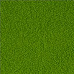 Winterfleece Velour Lime Green Fabric