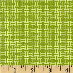 Cuddle Me Basics Flannel Basketweave Green