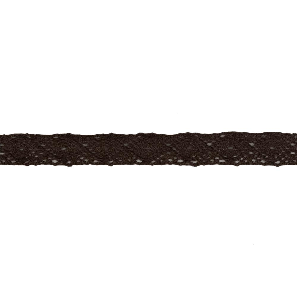 1/2'' Crochet Lace Ribbon Brown