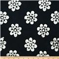 Indian Batiks Floral Black/White