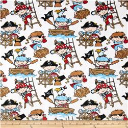 Minky Cuddle Classic Kids Ahoy Snow Fabric