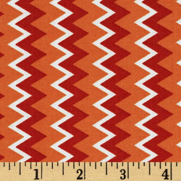 Owl Wonderful Zig Zag Stripe Red/Orange
