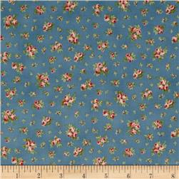 Faded Splendor Rosebuds Blue