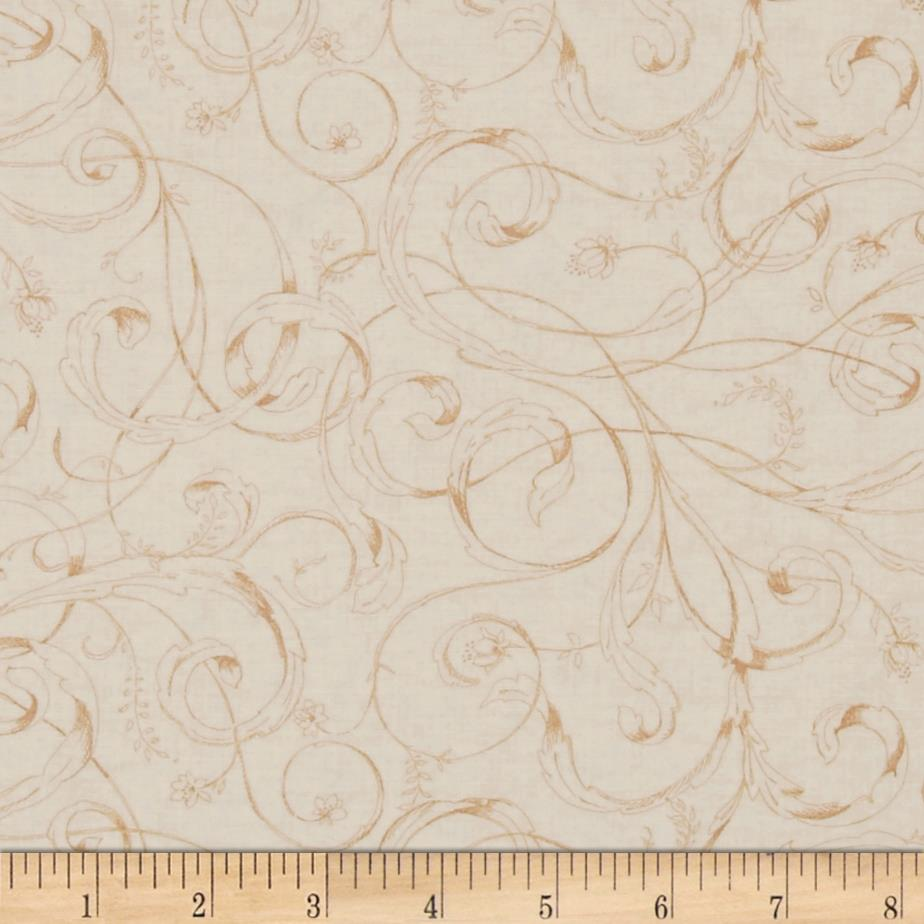 Ornithology Scrolly Leaves Beige