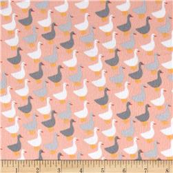 Kaufman Urban Zoologie Minis Flannel Little Ducks Creamsicle