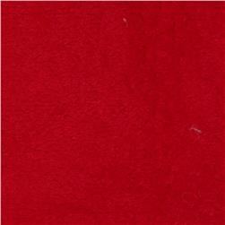 Whisper Coral Fleece Solid Red Fabric