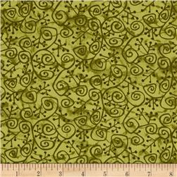 Evergreen Squiggles Green Fabric