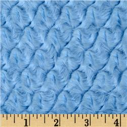 Minky Soft Tile Cuddle Baby Blue