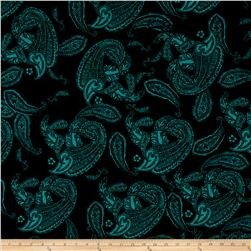 Alanna Resort ITY Knit Paisley Prints Jade/Black