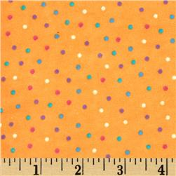Flannel Mini Dots Orange