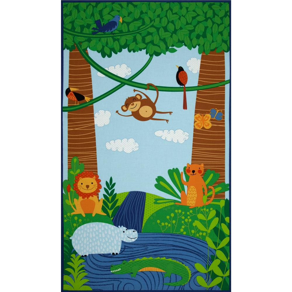 Rainforest Fun Panel Blue/Multi