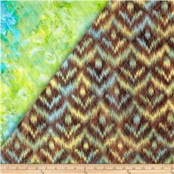 Indian Batik Double Sided Quilted Ikat Brown/Multi Fabric