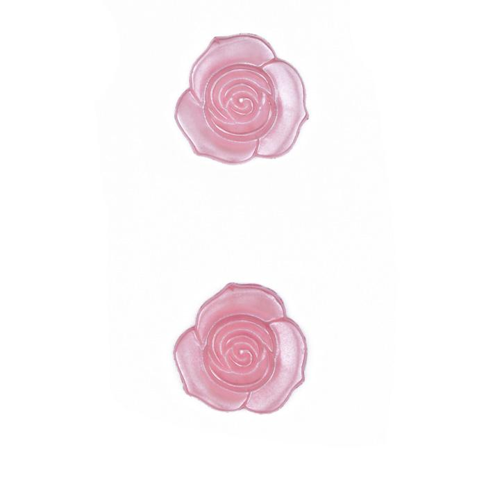 Novelty Button 3/4'' Rose Petals Pink
