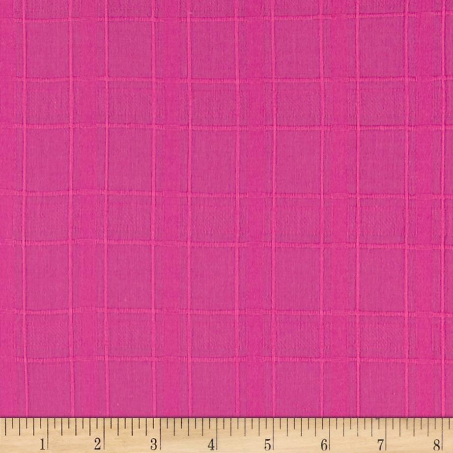 Shadow Plaid Voile Hot Pink