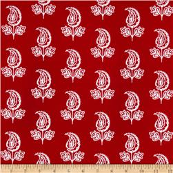 Garden Party Paisley Flower Red