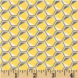 Kaufman Fragmental Honeycomb Sunflower
