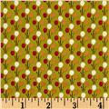 Windham Textured Leaves Multi Dot  Olive