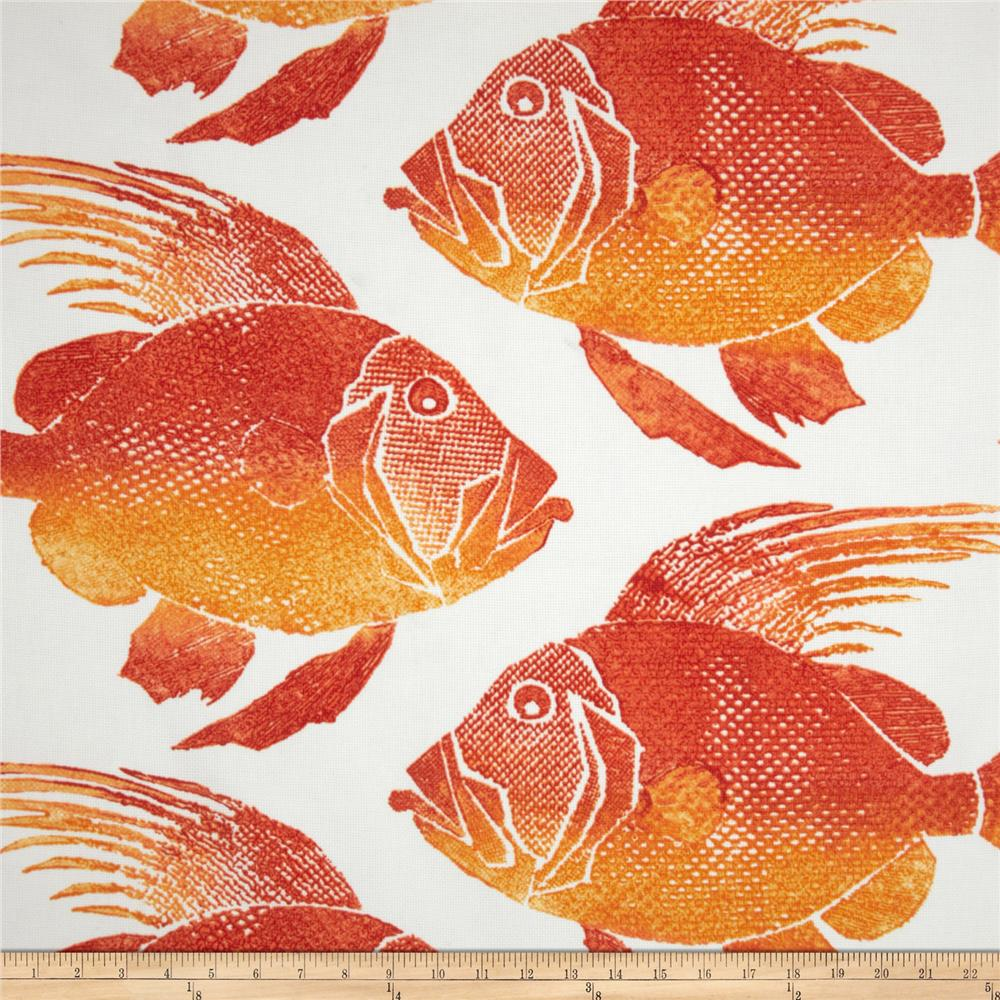 P Kaufmann Indoor/Outdoor Fish Orange