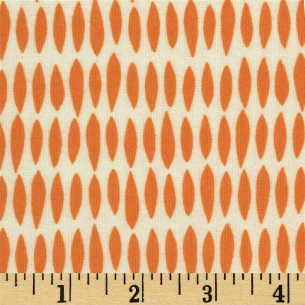 Riley Blake Flannel My Sunshine Raindrops Orange