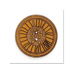 Organic Elements Wood Button 1 1/4'' Yellow