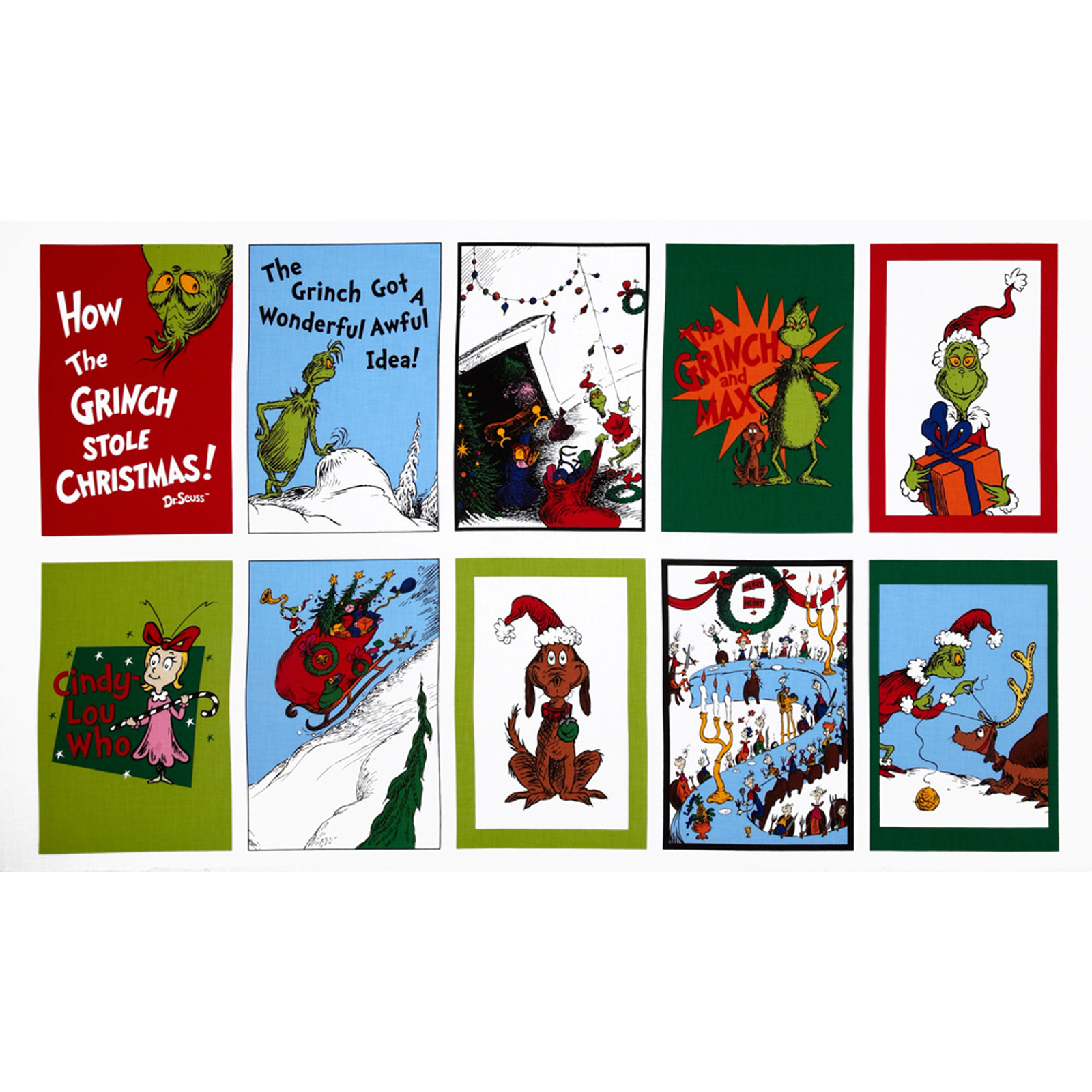 How The Grinch Stole Christmas Flannel Panel Celebration
