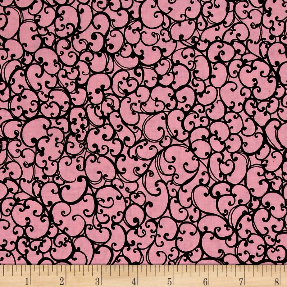 Loralie Designs Scrollie Pink Black
