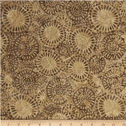 Timeless Treasures Tonga Batik Rockport Sunflowers Sable