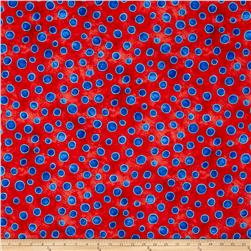 Cool Cats Dots Red