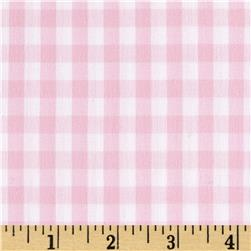 Cotton Gingham Pink/White